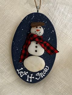 Christmas Decorations – Excited to share this item from my shop: Snowman/snowman ornament /seaglas… – Gestaltungsideen Homemade Ornaments, Clay Ornaments, Snowman Ornaments, Diy Christmas Ornaments, Christmas Snowman, Clay Christmas Decorations, Snowmen, Rustic Christmas Crafts, Christmas Fair Ideas
