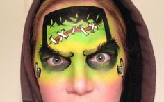 Frankenstein Face Paint