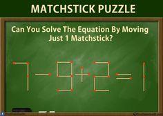 Onderwijs en zo voort ........: 3474. Starters met lucifers : 7-9+2=1    Nog meer: google 'matchstick riddle'