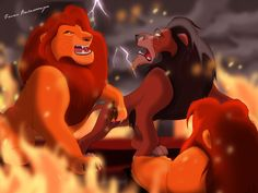 *MUFASA & SCAR ~ The Lion King...Nobody messes with my son by ~isuru077 on deviantART