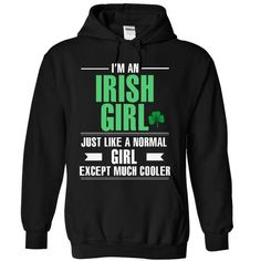 Cool Irish girl T Shirts, Hoodies, Sweatshirts. CHECK PRICE ==► https://www.sunfrog.com/LifeStyle/Cool-Irish-girl-5944-Black-6588798-Hoodie.html?41382