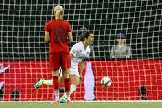 Carli Lloyd after hitting the PK against Germany, June 30, 2015. (Elsa/Getty Images North America)