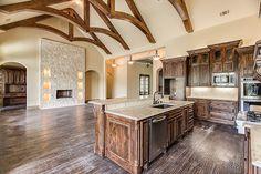 Build Dream Home, My Dream Home, Custom Home Builders, Custom Homes, Luxury Homes Dream Houses, Vaulted Ceilings, Wagon Wheel, Hard Wood, Counter Tops