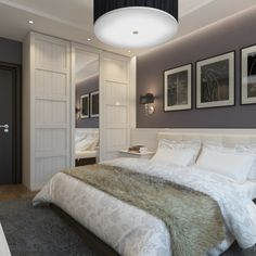 chambre grise dco et amnagement splendides en 77 ides - Gris Chambre Feng Shui