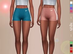 -some cute sporty shorts for your sims -8 colours -cas thumbnail Please do not copy, modify, reupload or convert my creations thank you! You can recolour these, just please give credit :)