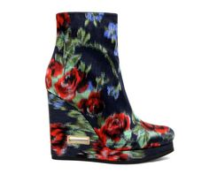 Floral version of the Jill Sander ankle boot