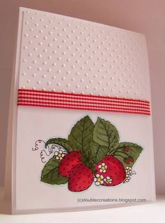 Strawberries by ladybugtwin - Cards and Paper Crafts at Splitcoaststampers  (Feb'13)
