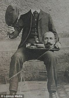 How the Victorians beat the internet to beheading craze by 100 years: Bizarre pictures show 19th Century 'photoshopping'