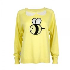 Bee and Puppycat Costume Sweater Yellow Puppy Cat Cartoon Anime Adult... ❤ liked on Polyvore featuring sweaters