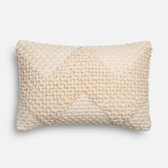 It's time to relax with the easy elegance of the Fae pillow from the Magnolia Home Collection by Joanna Gaines. It offers the simplicity of ivory with a pleasing texture woven of a cotton/wool blend. Pair with other pillows in the collection and see how quickly a beautiful look comes together.