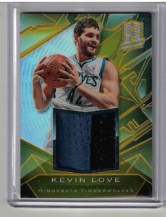 2013 Spectra Basketball Kevin Love Gold Refractor 2 Color Patch Card #06/10 RARE #MinnesotaTimberwolves