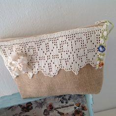 Fabric Bags, Cute Bags, Pouch Bag, Handmade Bags, Cosmetic Bag, Jute, Purses And Bags, Burlap, Sewing