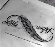 Výsledok vyhľadávania obrázkov pre dopyt believe infinity feather tattoo
