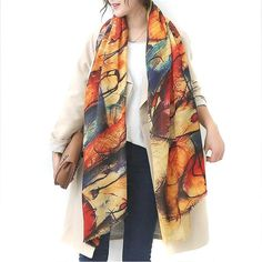 Graffiti imitation cashmere scarf soft printing all-match shawl $14.84 => Save up to 60% and Free Shipping => Order Now! #fashion #woman #shop #diy www.scarfonline.n...