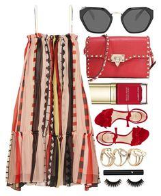 """Santorini"" by monmondefou ❤ liked on Polyvore featuring Dolce&Gabbana, Valentino, Prada, Apiece Apart, Alexandre Birman, Lancôme and red"