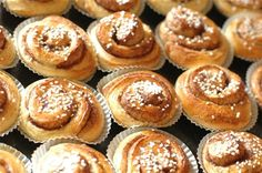 #Cinnamonbuns are one of Sweden's most loved pastries. No #fika is complete without them. #VisitSweden Photo by: Lotta Thiringer