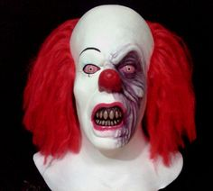Pennywise IT Clown Burnt Limited Edition Latex Mask Halloween Horror