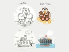 From sketch to result by Infographic Paradise #Design Popular #Dribbble #shots