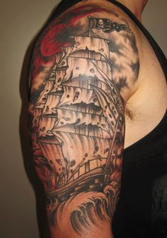 realistic ship tattoo - Google Search