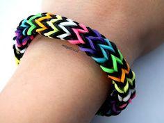 Pulsera de gomitas Zigzag multicolor SIN TELAR / Multicolor zigzag brace...