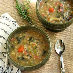 Heart Smart Bean, Barley and Vegetable Soup