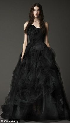 Black wedding dress... I'd do it if I would marry again. (but I'm happily married!)