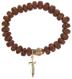 Loree Rodkin carved wood beaded diamond bracelet on shopstyle.com