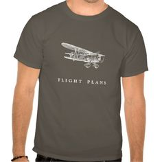 Vintage Aeroplane, Flight Plans T-shirt