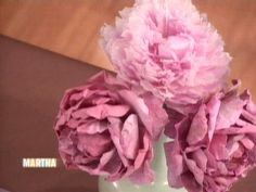Watch Martha Stewart's Paper PEONIES Pt. 3  (LOOK FOR PART 2) VIDEO. Get more step-by-step instructions and how to's from Martha Stewart.