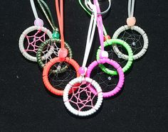 MIniature Dreamcatcher Keychain  The Bright by toxicdarque on Etsy, $3.00
