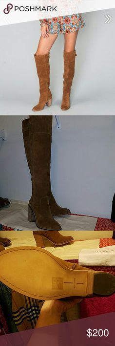 Dolce Vita Okana Boot Never worn, picture of sole as proof Suede Heel height: 3.5 Dolce Vita Shoes Heeled Boots