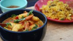 This recipe for Swahili prawns with coconut rice comes from Original Travels Millie, after her travels along the Kenya coast in Africa…