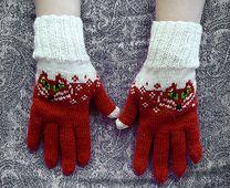Ravelry: Foxtail Gloves pattern by Natalia Moreva