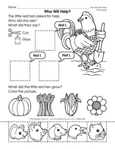 Printables etc. from Mailbox: Little Red Hen, Billy Goats Gruff, 3 Pigs, Goldilocks Autumn Activities, Literacy Activities, Ocean Activities, Preschool Curriculum, Preschool Worksheets, Homeschool, Little Red Hen Activities, Little Red Lighthouse, Little Hen
