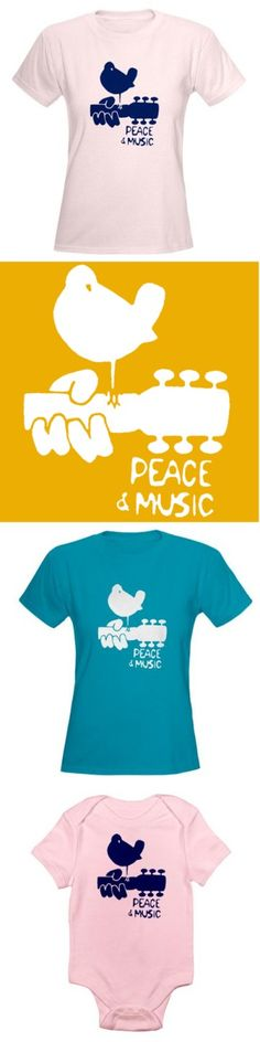 More peace. More music. I could go for that. Agree?  Woodstock Peace and Music TShirt