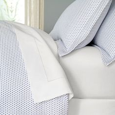 Warm and CozyCoverlets and matelassés offer a polished finish to the bed, typically covering blanket and sheets for a final flourish of style. And some of the coziest coverlets are those that are woven with lush, thick all-cotton yarns, as they serve to add another layer of warmth to the bed. Our Cordo matelassé is just such a coverlet. It is made from pure White cotton deftly interwoven with colored cotton chenille yarns to define a tiny diamond-star motif. We liked the heft and ...