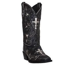 """Laredo Women's 11"""" Silver Cross Western Boots"""