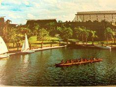 Polynesian Resort 1970's war canoe.
