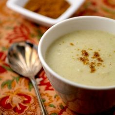 Roasted cauliflower soup with garam masala - for those days when you're not sure if it's Winter or Spring...