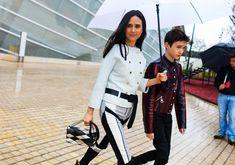 PFW16 street style: Jennifer Connelly in Louis Vuitton