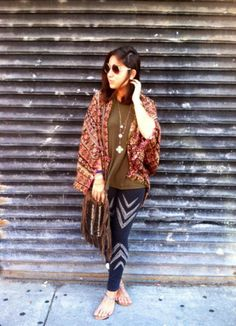 Ikat Hooded Poncho style pic on Free People