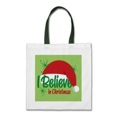 Believe In Christmas Bags  Click on photo to purchase. Check out all current coupon offers and save! http://www.zazzle.com/coupons?rf=238785193994622463&tc=pin