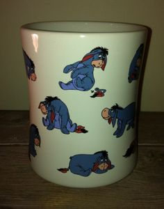 New RARE Disney Store Eeyore Coffee Mug Winnie The Pooh Ceramic Huge | eBay