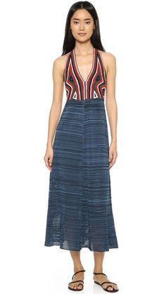 Rachel Comey Crochet Halter Dress
