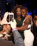 Lupita Nyong'o & Oprah Winfrey at the Critics Choice Awards