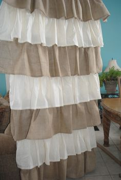 cotton and burlap for a cottage feel