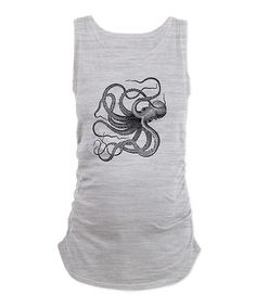Look what I found on #zulily! Ash Gray Octopus Maternity Tank - Women & Plus by CafePress #zulilyfinds