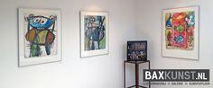 Object: Hacker, Steendrukken en staaldruk | Expositie 'Jan van der Meulen 80 jaar', Bax Kunst Sneek | #baxkunst #art #expo #artist #Sneek #Gallery #objects #paintings #graphicart