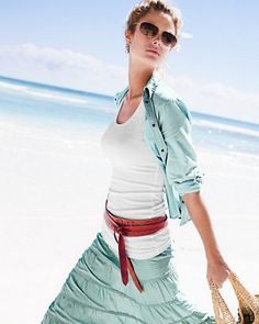 ADA Cutout Lily Wrap Belt  and skirt - Garnett hill