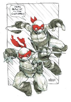 TMNT sketch by Santolouco.deviantart.com on @deviantART